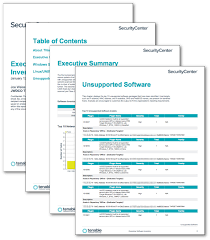 nessus report templates executive software inventory report sc report template tenable