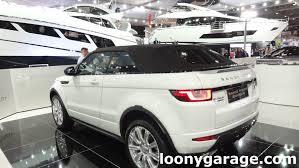 evoque land rover convertible range rover evoque convertible exterior interior tour youtube