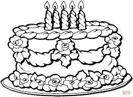 coloring page birthday cake free printable birthday cake coloring