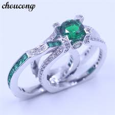bridal set rings aliexpress buy choucong 12 colors birthstone women wedding