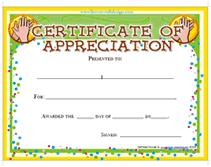 templates for award certificate printable printable certificates of appreciation awards templates