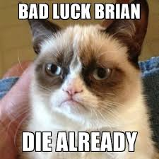 Bad Luck Meme Generator - bad luck brian die already grumpy cat meme generator
