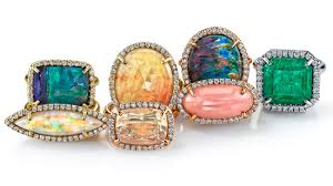 colored gemstone rings images Bold organics color pops and charms 3 designer jewelry trends jpg
