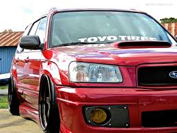 red subaru forester subaru highlights from first class fitment mind over motor