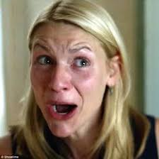 Claire Danes Cry Face Meme - confused nyc showtime claire danes homeland carrie mathison humor
