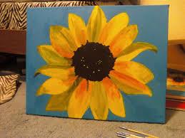 acrylic sunflower painting design student life pinterest