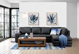 Modern Leather Sofa With Chaise Leather Corner Chaise Amart Lounge Pinterest