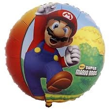 super mario bros foil balloon birthdayexpress
