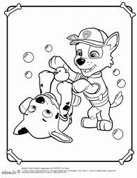 paw patrol marshall puppy coloring page in pictures of paws
