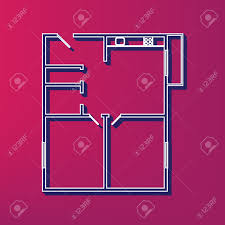 Icon Floor Plans Apartment House Floor Plans Vector Blue 3d Printed Icon On