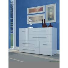 meuble commode chambre lisboa commode chambre adulte style contemporain laqué blanc