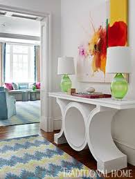 Jenkins Table L Navy Grasscloth Walls Pair With Crisp White Wainscoting And Tiger