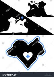 dog cat silhouette design elements stock vector 94029319