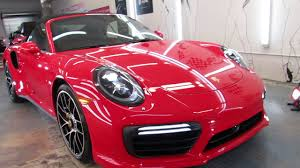 turbo porsche red 2017 porsche turbo s cabriolet ceramic pro protected by advanced