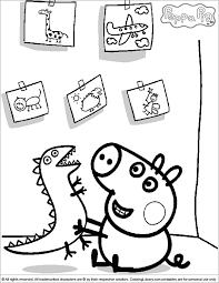 free coloring pages peppa pig swimming 7624 bestofcoloring