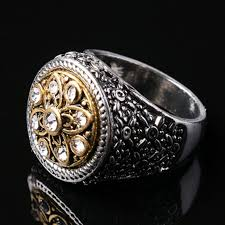 rings design for men new design fashion men ring classic retro carving flower