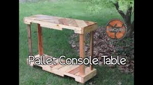 Pallet Console Table Console Table Built From 100 Pallet Lumber Youtube