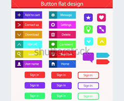 buttons designen 118 flat design buttons elements ui kits for graphic designers