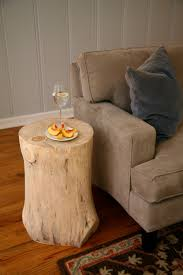 side table made from wood stump doing this i have 2 peeled