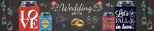 personalized koozies for wedding custom wedding koozies personalized wedding can koozies