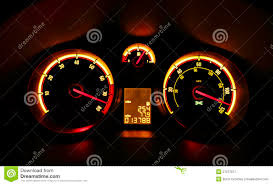 car dashboard car dashboard dials at night royalty free stock photography