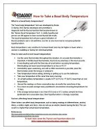 Broda Barnes Test How To Take A Basal Temperature Online Continuing Education