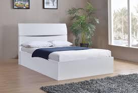 arden white high gloss ottoman bed frame