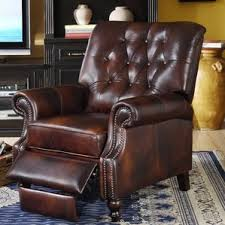 leather nailhead recliner wayfair