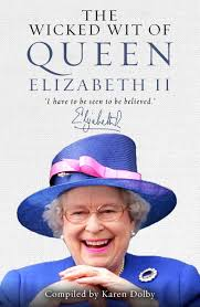 queen elizabeth ii beams after winning a a 98 voucher from the wicked wit of queen elizabeth ii karen dolby 9781782433651