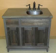 Distressed Wood Bathroom Vanity Bathroom Elegant Reclaimed Wood Vanity Rustic Bath Cabinetry Log