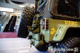 Rugged Ridge Tire Carrier 2014 Sema Commando Green Rugged Ridge Kilroy Jeep Jk Wrangler