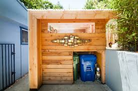 cool trash cans garage and shed contemporary with custom art