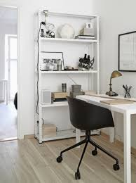 Home Office Shelving by Mini Gold Desk Lamp With Portable Black Armchair Also Scandinavian