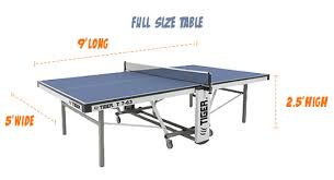 Beer Pong Table Length by Tiger Pingpong Room Size Chart