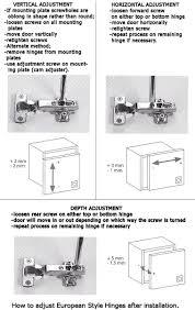 Economy Kitchen Cabinets How To Adjust European Cabinet Door Hinges Monsterlune