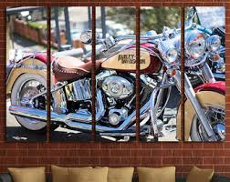 Harley Davidson Decor Motorcycle Decor Etsy