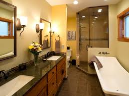 small bathroom wall decor ideas glass framed windows sunken