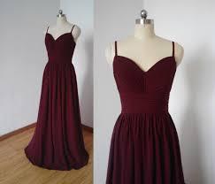 spaghetti straps bridesmaid dresses burgundy bridesmaid dresses