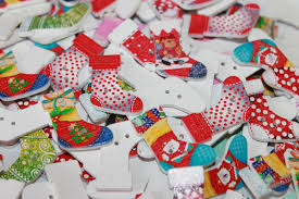 wooden painted christmas buttons christmas stocking buttons