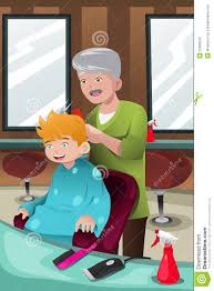 kids getting haircut clipart collection