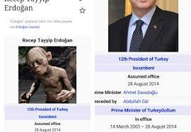 Turkish Meme - the erdogan gollum meme has really annoyed turkey s president