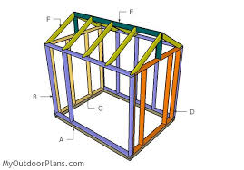 Shed Greenhouse Plans 6x8 Wooden Greenhouse Plans Myoutdoorplans Free Woodworking