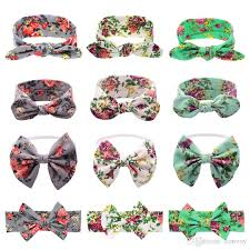 different types of hair bows 12 types baby headbands bow cotton bunny ear print headbands