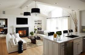 Kitchen Family Room Designs Trendy View Full Size Beautiful Light - Open plan kitchen living room design ideas