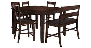 high dining room table and chairs city furniture mango2 dark tone high table 4 barstools high bench