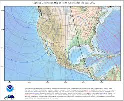 Tropic Of Cancer Map Magnetic And True North Dealing With Variation Declination
