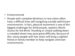 World Access For The Blind Problems Faced By Handicapped