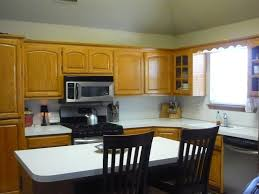 White Painted Oak Furniture Colorful Subway Tiles Backsplash Natural White Paint Cabinet Ideas