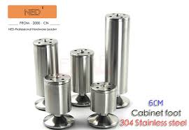 stainless steel table legs adjustable 4pcs brand ned 6cm 304 stainless steel furniture legs cabinet tv