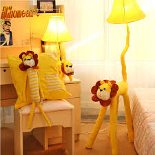 Schlafzimmer Steh Lampen Hghomeart Led Gelb Lion Kids Stehlampen Holz Cartoon Dekor